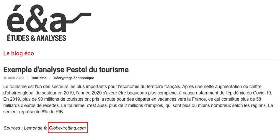 Article Blog Tourisme