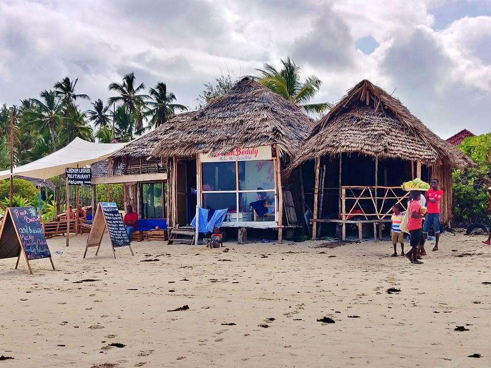boutiques plage de Paje zanzibar