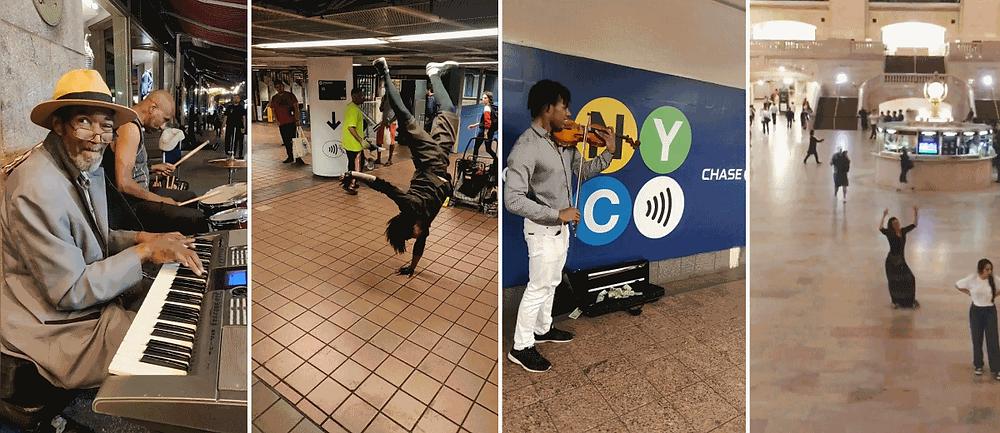 Insolite Nyc danser dans le métro