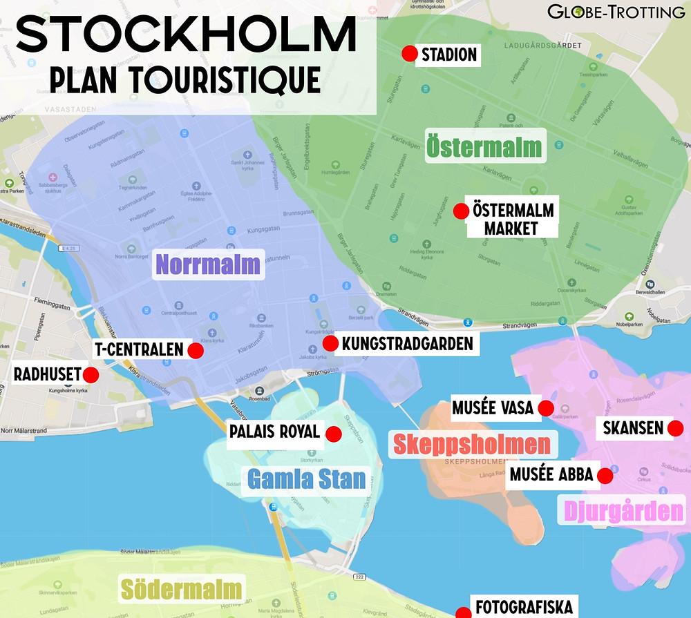Stockholm plan touristique
