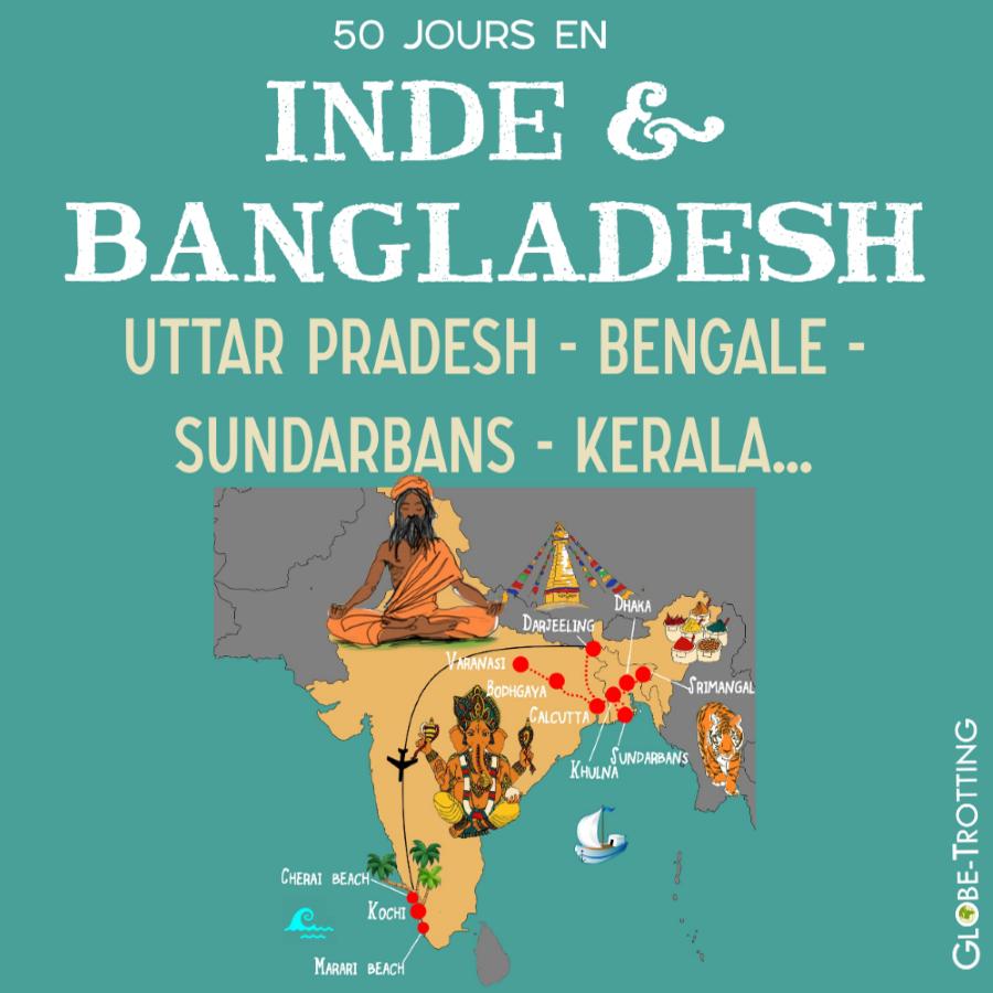 Itinéraire en Inde et au Bangladesh