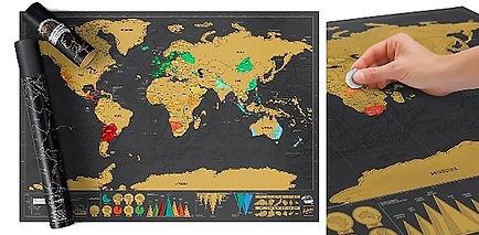 Mappemonde de voyageuse