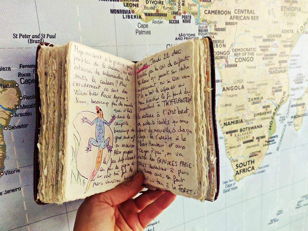 carnet de voyage carte du monde