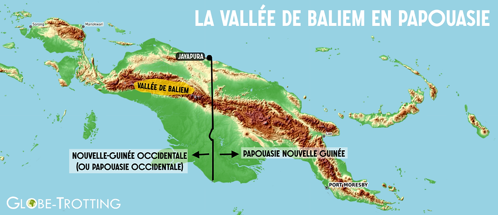 Carte vallée Baliem / Baliem Valley map