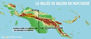 Carte vallée Baliem / Baliem Valley map