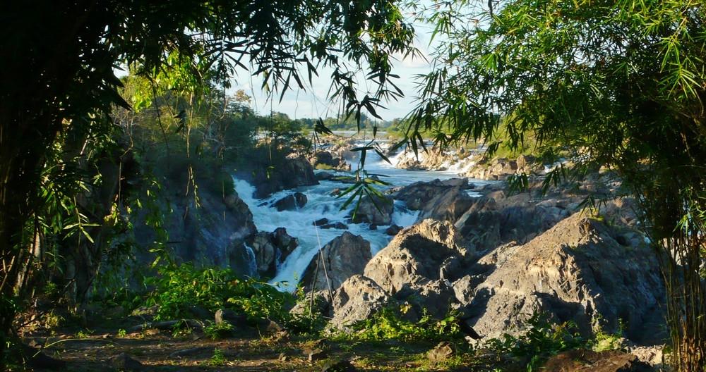 Chute d'eau Don Det Laos 4000 îles