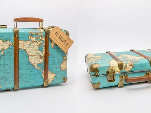 Petite Valise Vintage Mappemonde