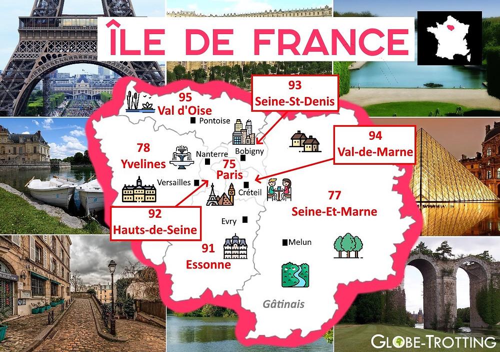 où partir Île de France