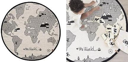 Tapis globe terrestre enfant