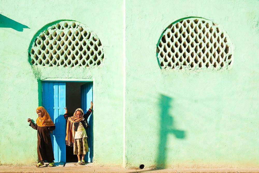 murs couleurs Harar Jugol en Ethiopie