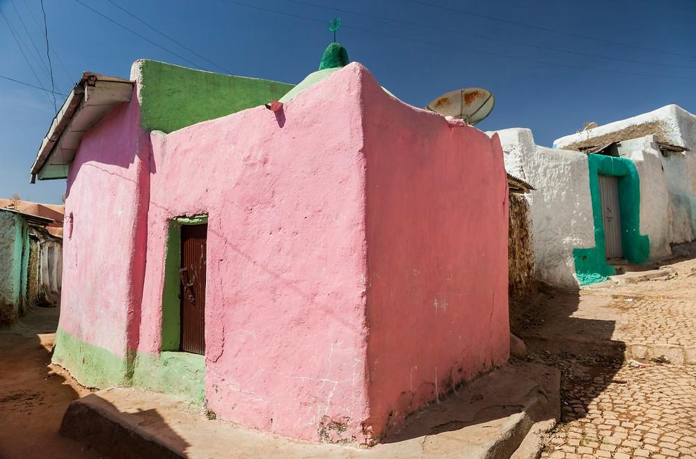 Harar Ethiopie murs colorés