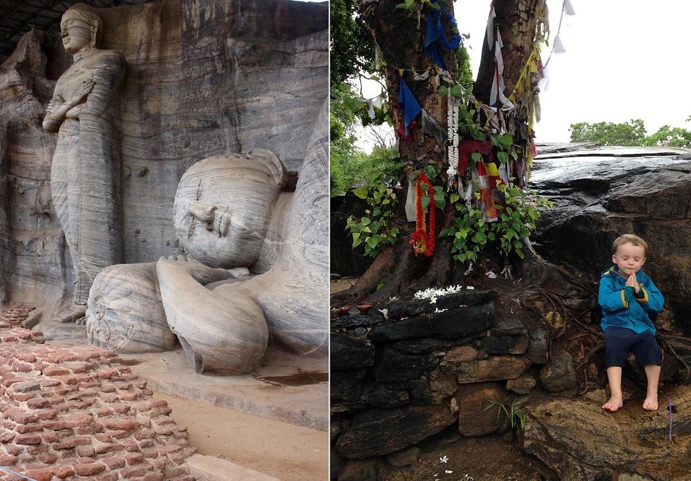 Polonnaruwa avec un enfant de 2 ans Sri Lanka