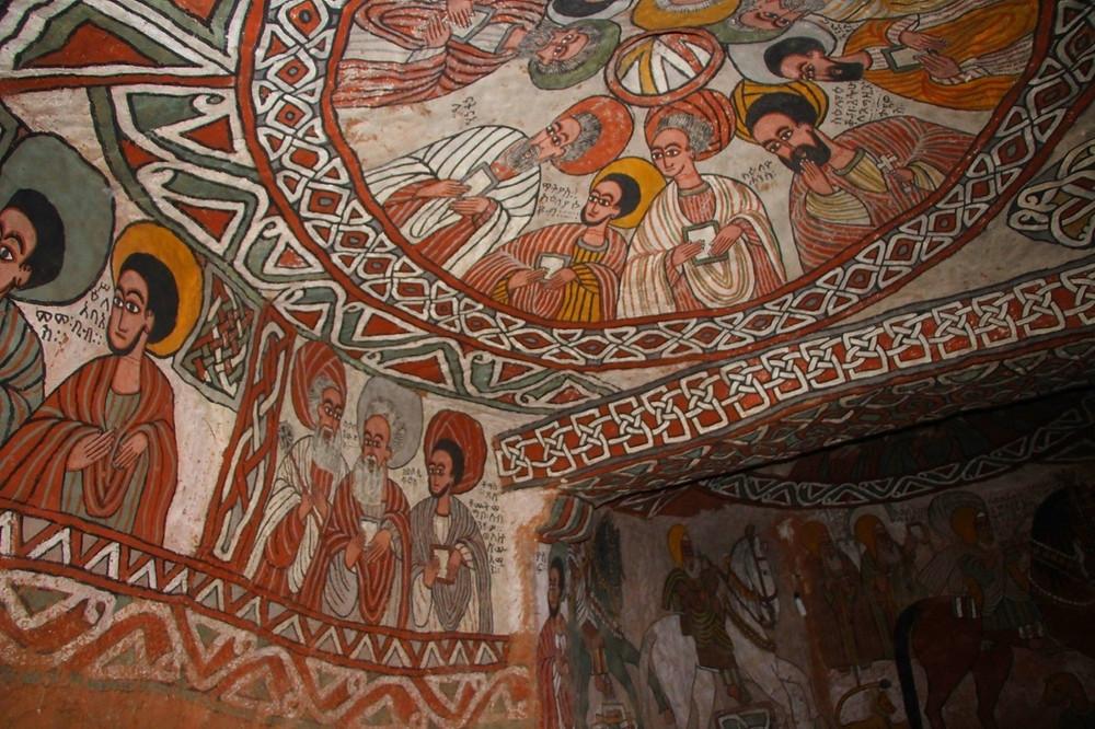 Gheralta Abuna Yemata plafond église