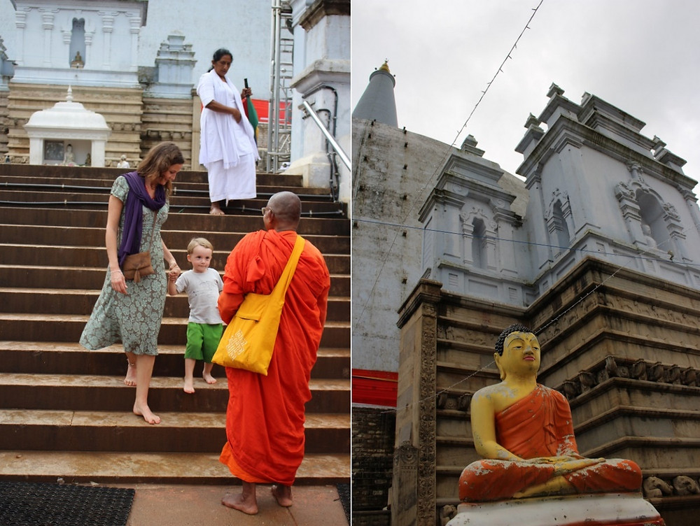 Anuradhapura avec un enfant