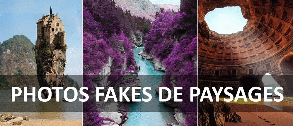 photos fake de paysages