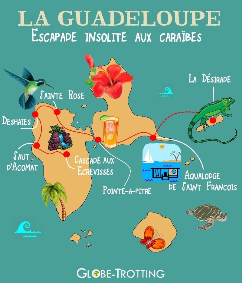 Guadeloupe court séjour insolite