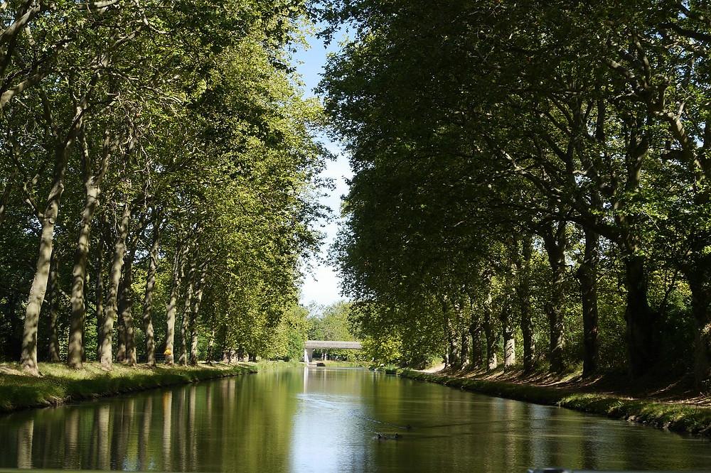 Canal du Midi en France