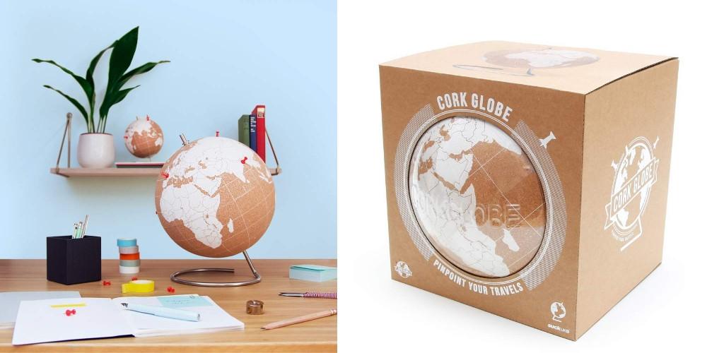 cork globe blanc