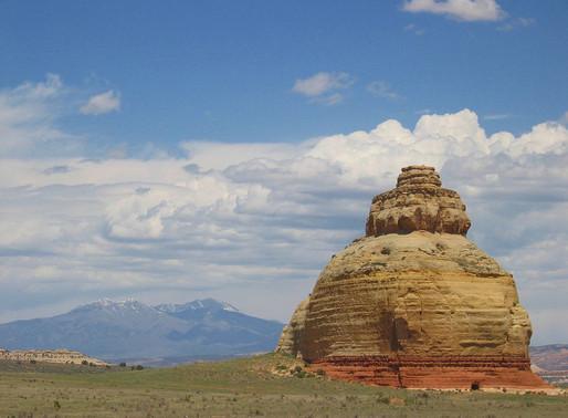La Church Rock dans l'Utah aux Etats Unis
