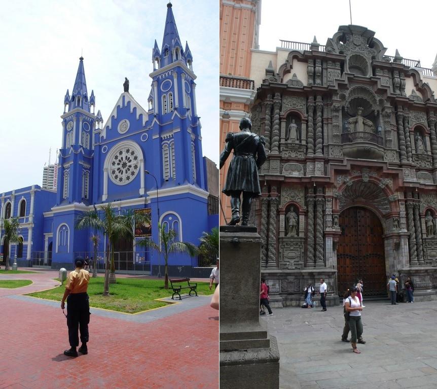La Recoleta église bleue de Lima
