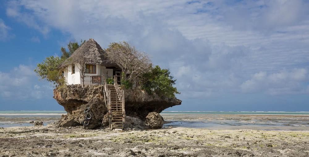 rock restaurant à marée basse