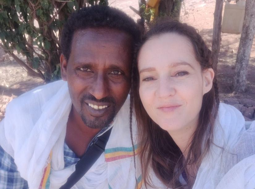 touriste et guide Lalibela et Bete gyorgis en Ethiopie
