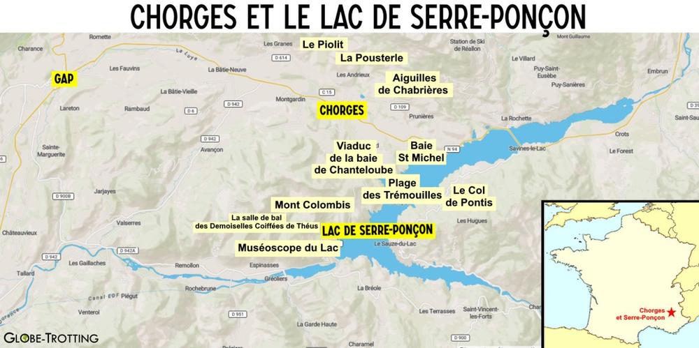 Plan Chorges et Serre-Ponçon