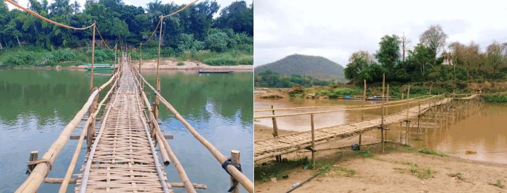 le pont de Bambou luang prabang