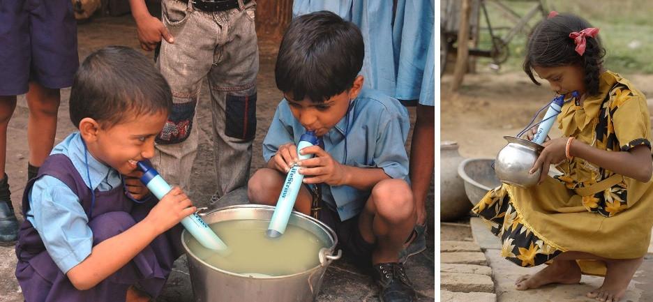 PAILLE pour filtrer l'eau non potable