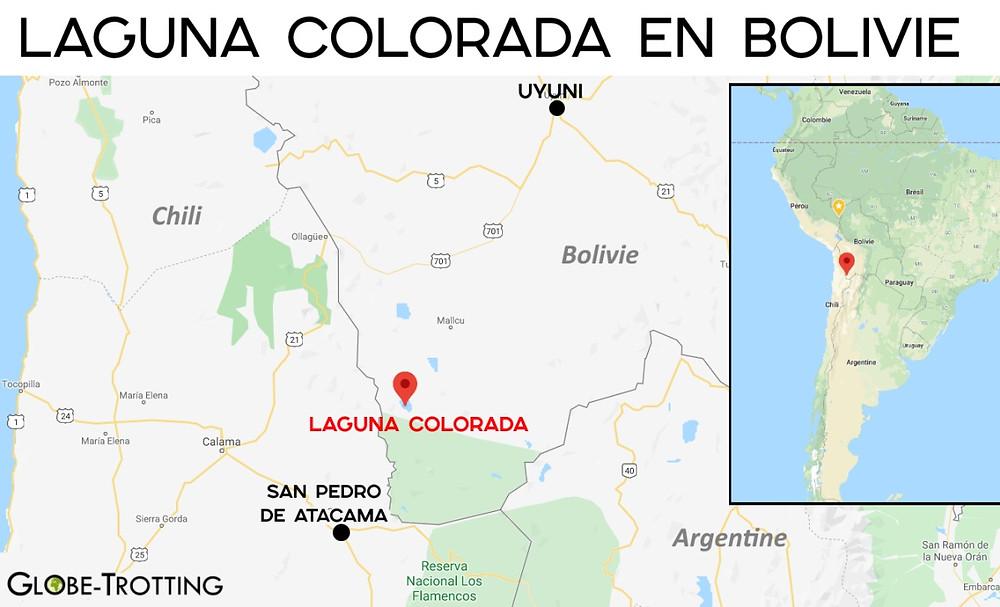 carte laguna colorada bolivie