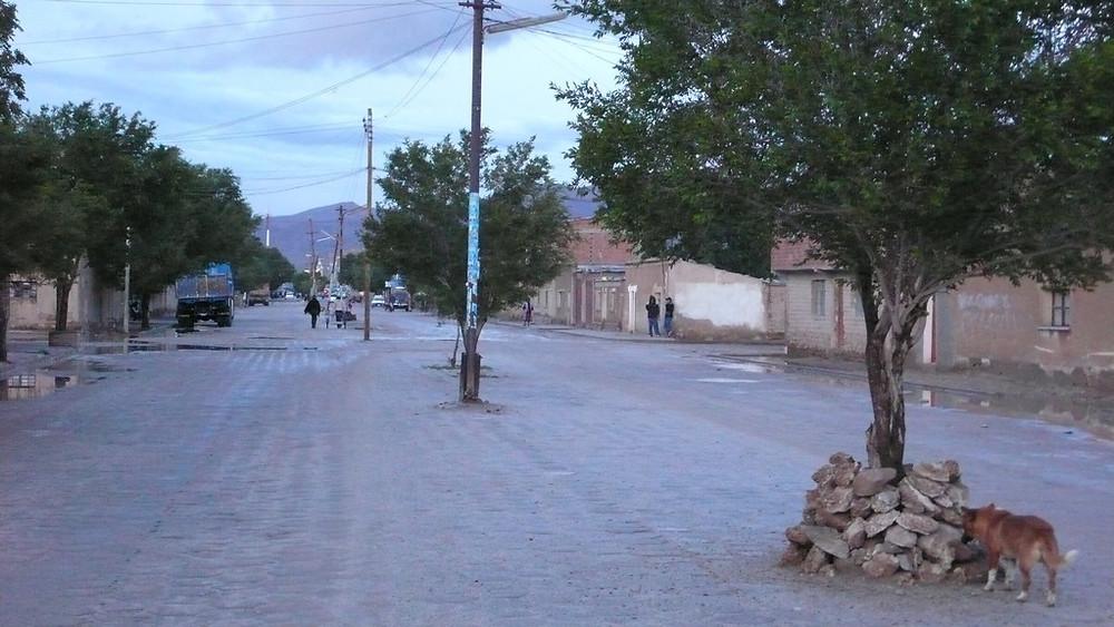 une rue d'Uyuni en Bolivie