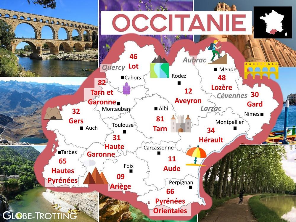 où partir france région Occitanie