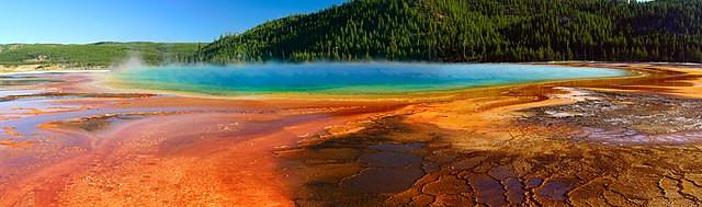source chaude couleurs arc en ciel