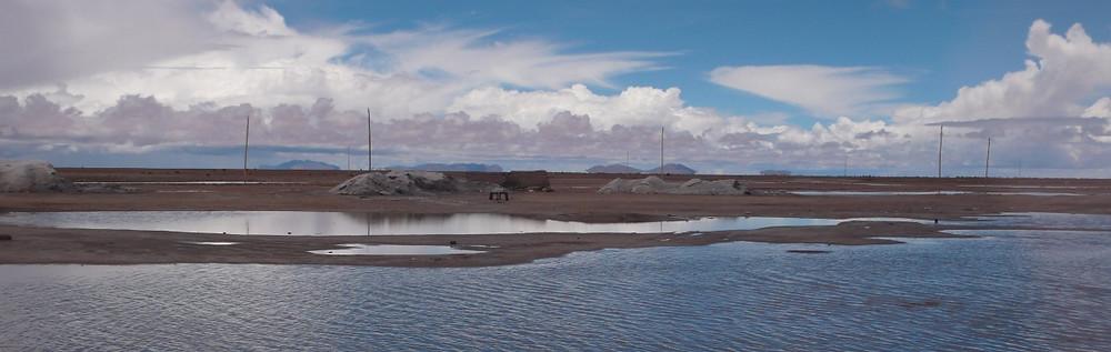 Fabrique de sel Uyuni en Bolivie