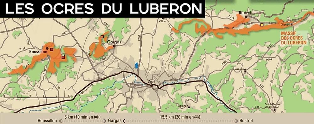 carte Ocres du Luberon roussillon