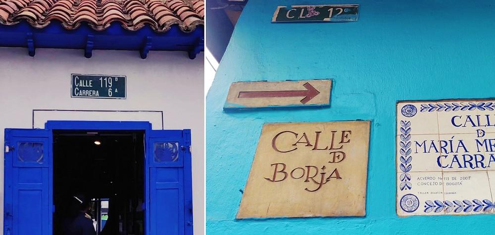 Numérotation des rues de Bogota