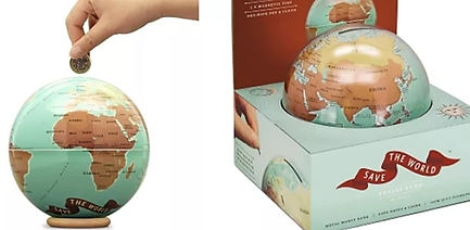 Tirelire globe mappemonde