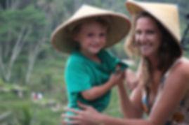 Maman et enfant Bali vacances