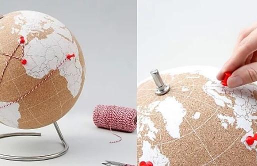 Un Globe en Liège à punaiser