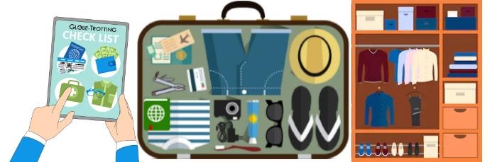 liste pour sac ou valise de voyage
