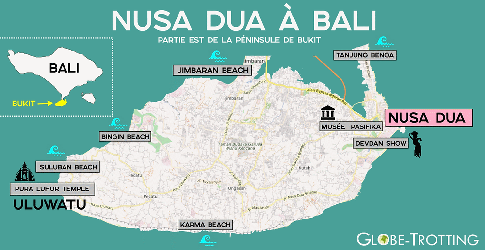 Carte Plan Nusa Dua bali