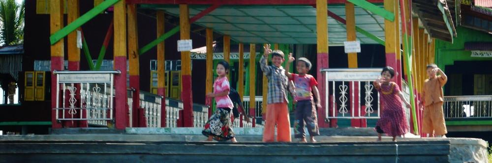 enfants birmanie Inlé lake