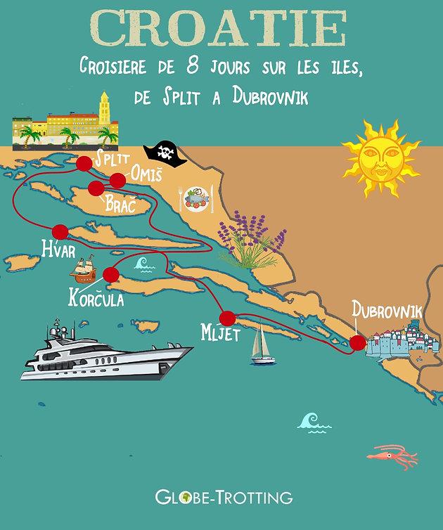 Carte Croatie Lieux Dinteret.De Dubrovnik A Split Croisiere En Croatie Globe Trotting Blog