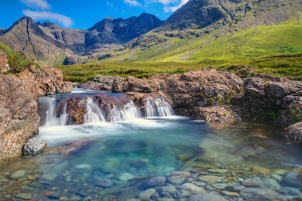 les piscines enchantées de l'île de skye ecosse