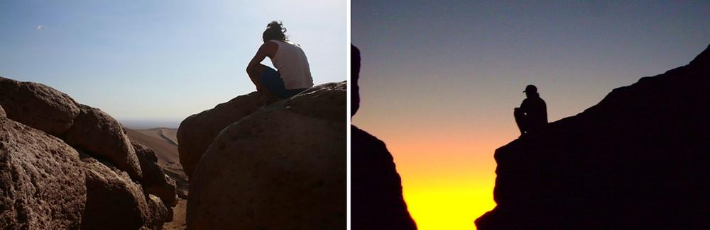 coucher de soleil à Pica