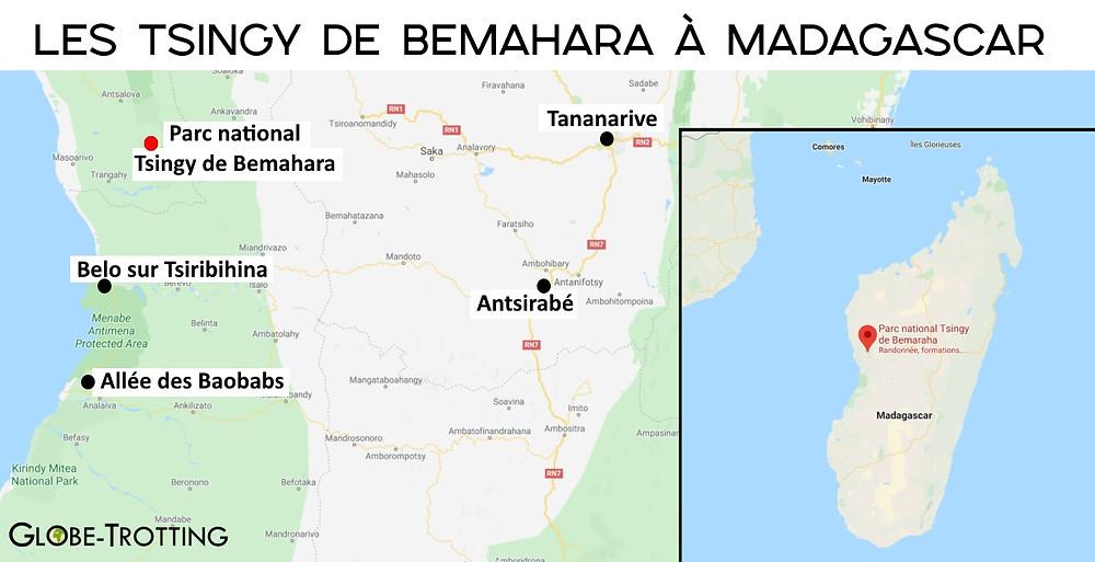 Carte Tsingy de Bemahara