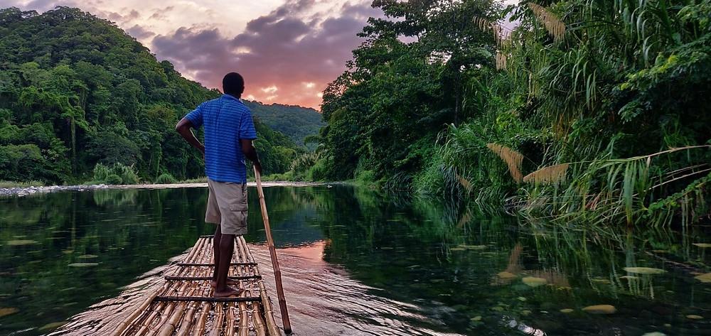 Rio Grande Port Antonio coucher de soleil