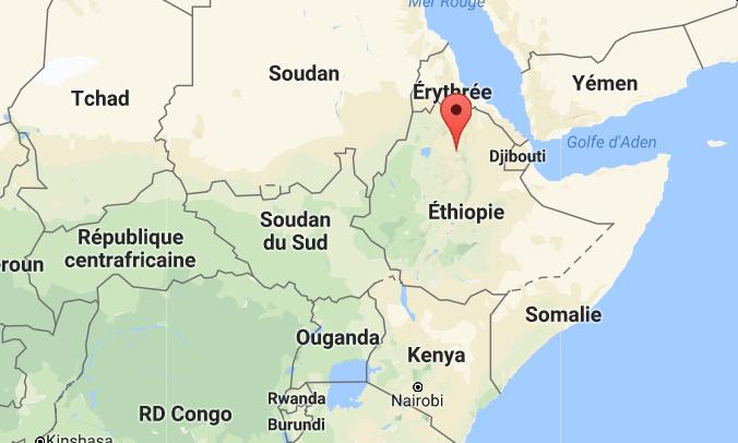 Carte lalibela ethiopie