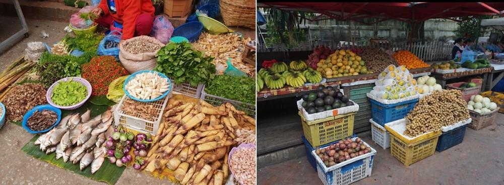 Morning market de Luang Prabang