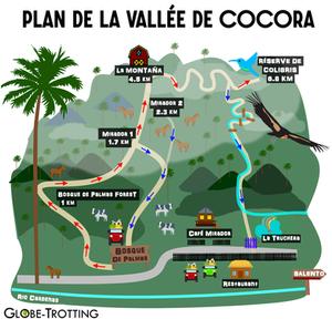 Valle Cocora Plan Carte Map
